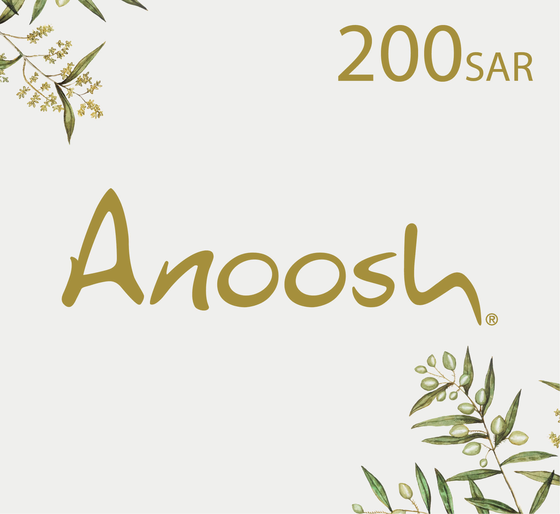 Anoosh Gift Card - 200 SAR
