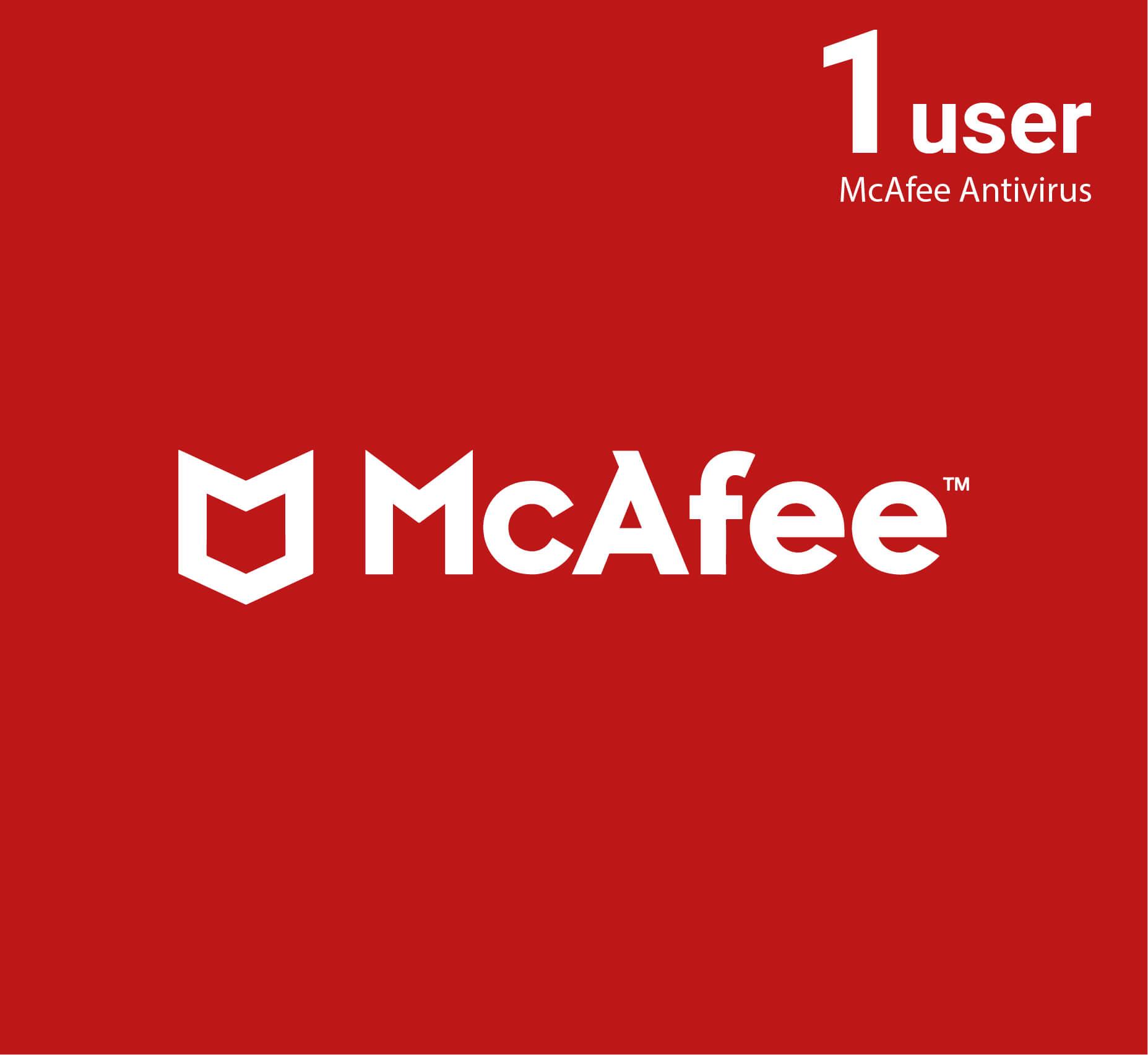 McAfee Antivirus 1 user