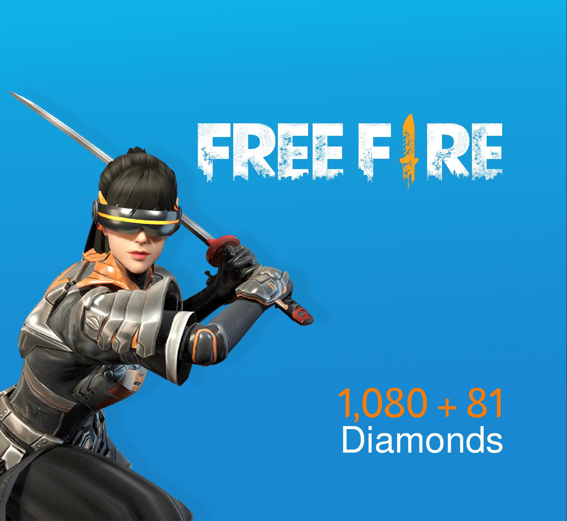 Free Fire Pins 1080 + 81 Diamonds