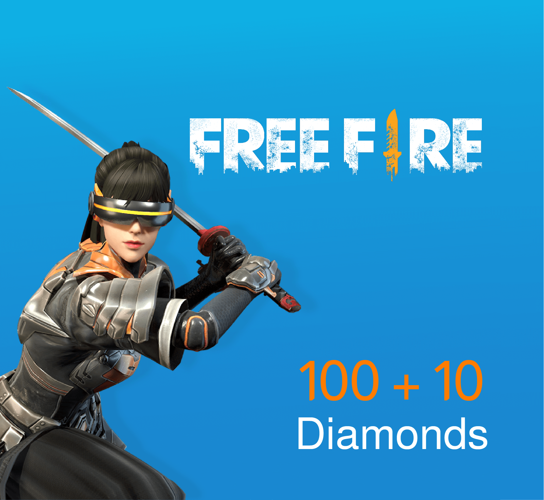 Free Fire Pins 100 + 10 Diamonds