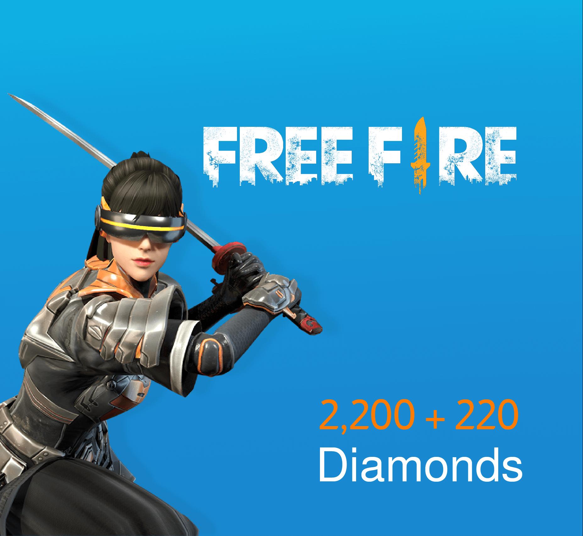 Free fire Pins 2200 + 220 Diamonds