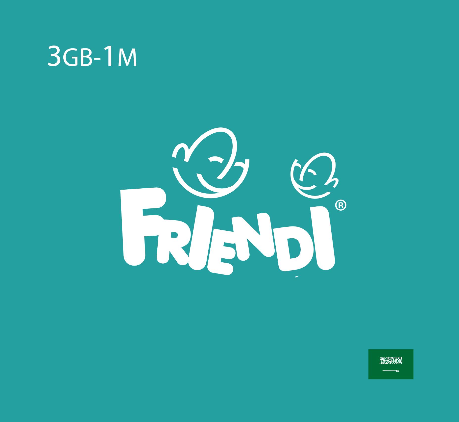 Friendi Data Recharge 3 GB - 1 Month