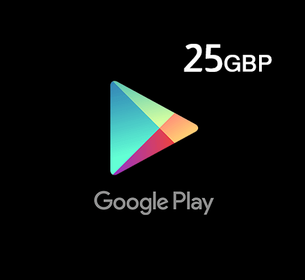 Google Play Gift Card 25 GBP - UK Store