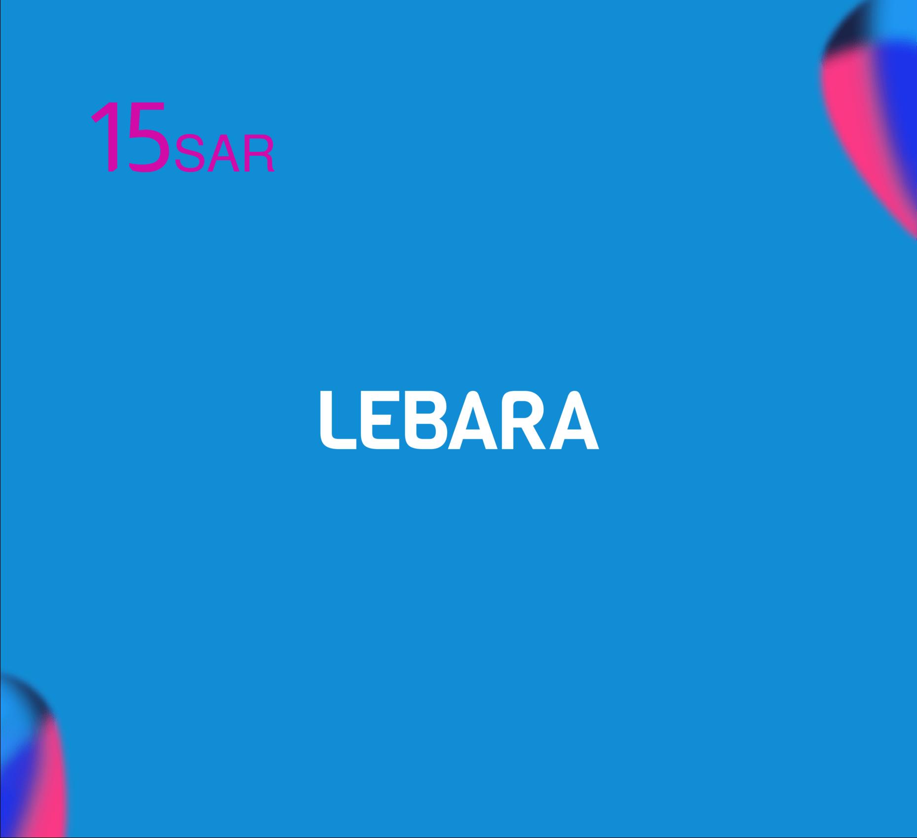 Lebara Recharge Card SR 15