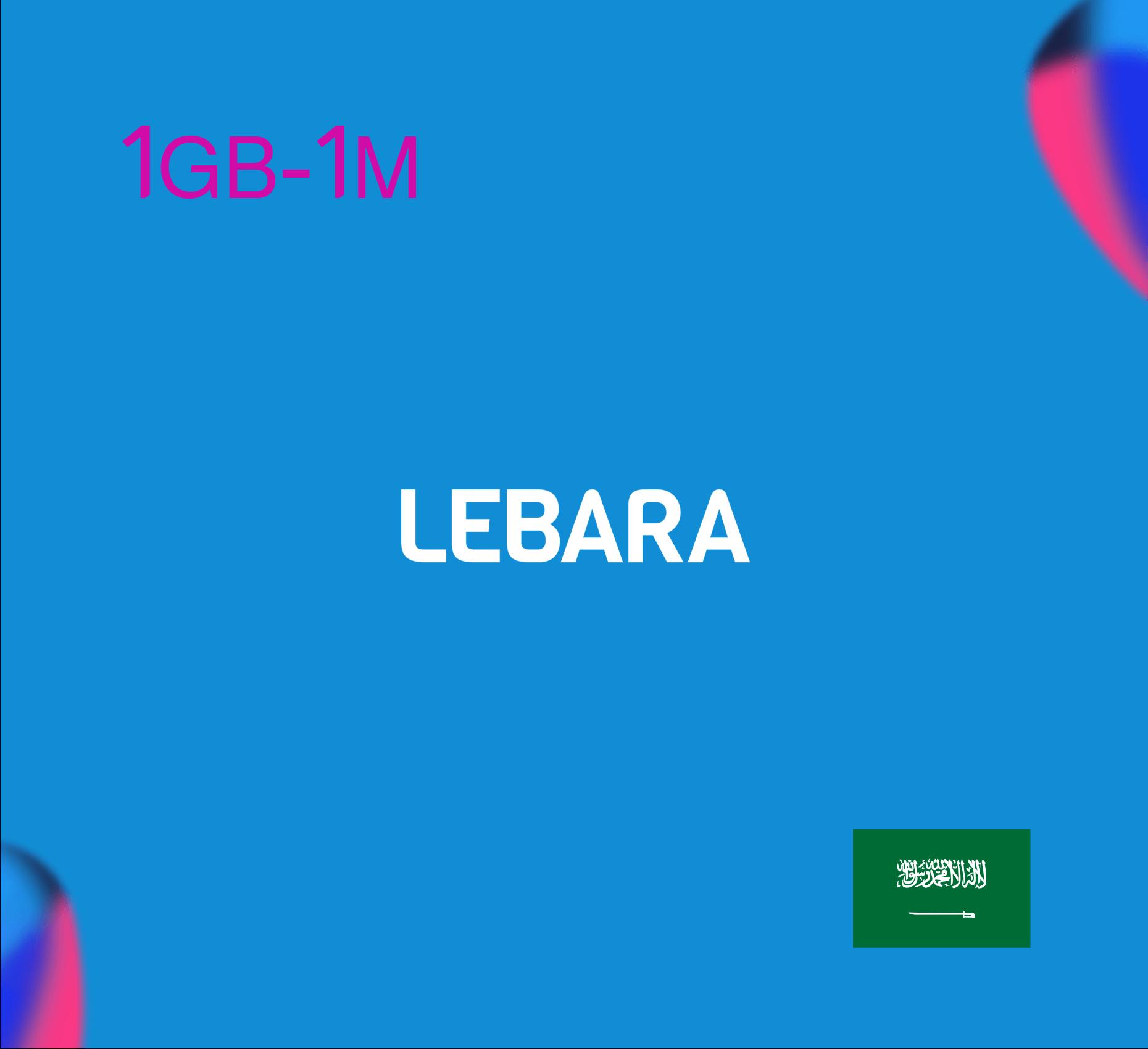 Lebara Data Recharge 1GB - 1 Month
