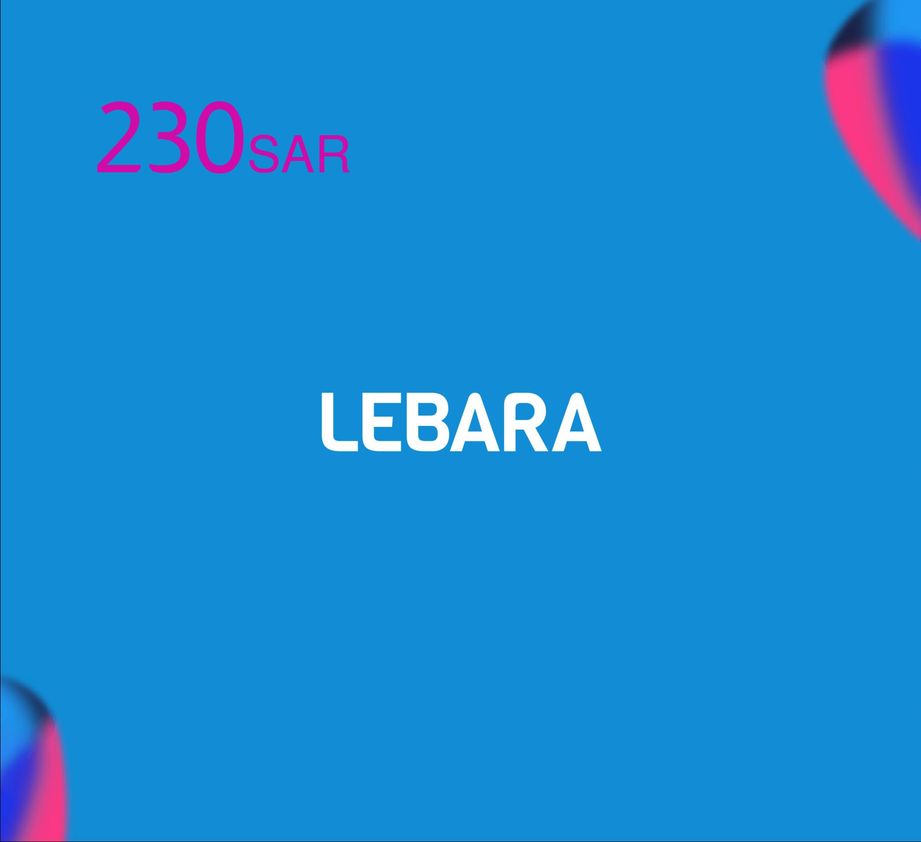 Lebara Recharge Card SR 230
