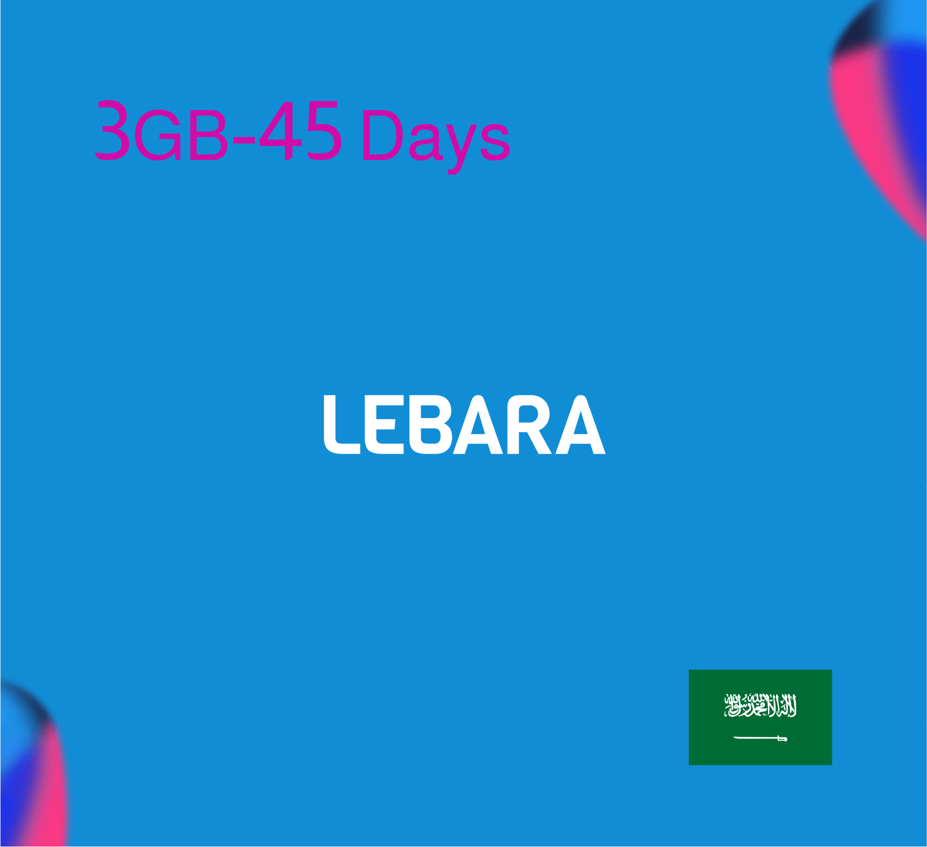 Lebara Data Recharge 3GB - 45 Days
