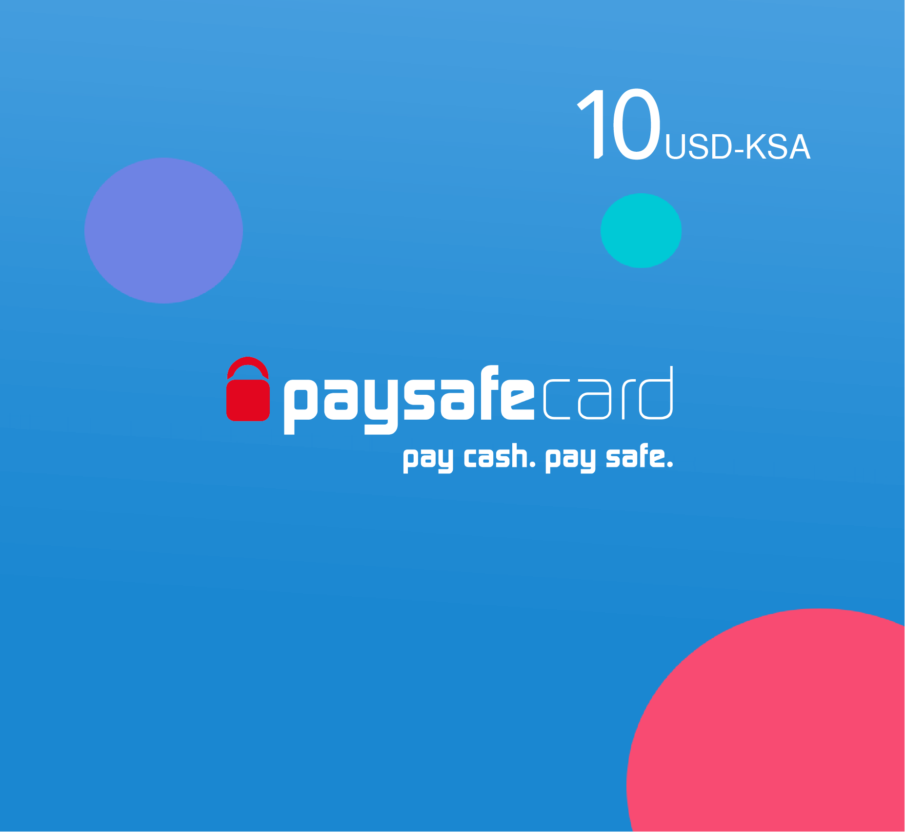 Paysafe card 10 USD - KSA