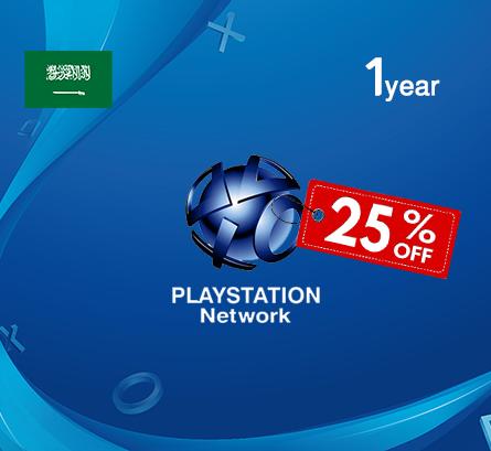 Playstation 1 Year - Saudi Store (25% Off)