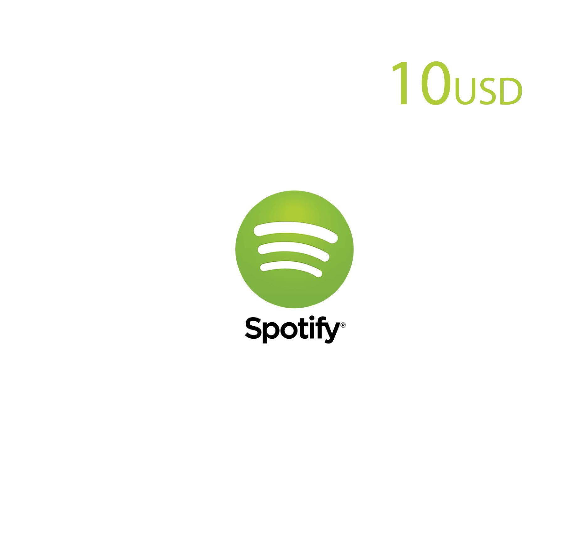 Spotify 10 USD (US Store)