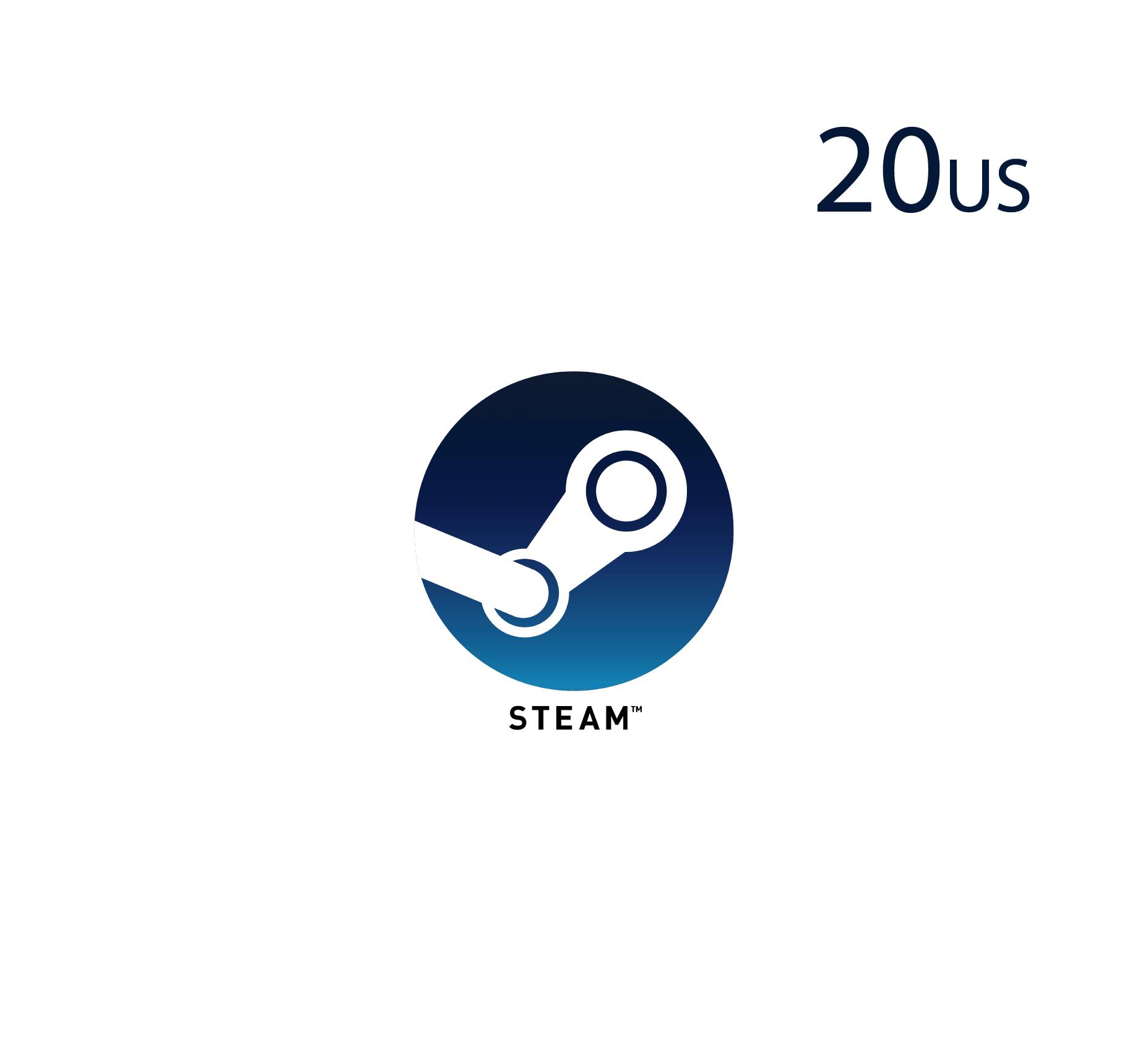 Steam Wallet - 20 USD